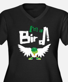 Im A Bird Women's Plus Size Dark V-Neck T-Shirt