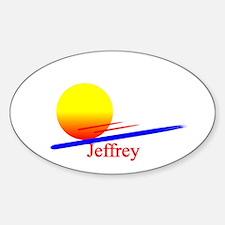 Jeffrey Oval Decal