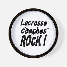 Lacrosse Coaches Rock ! Wall Clock