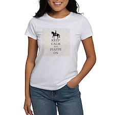 Keep Calm and Piaffe On Dressage H Tee