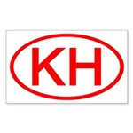 KH Oval (Red) Rectangle Sticker