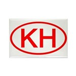 KH Oval (Red) Rectangle Magnet (10 pack)