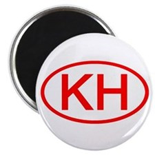 KH Oval (Red) Magnet