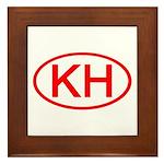 KH Oval (Red) Framed Tile