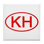 KH Oval (Red) Tile Coaster