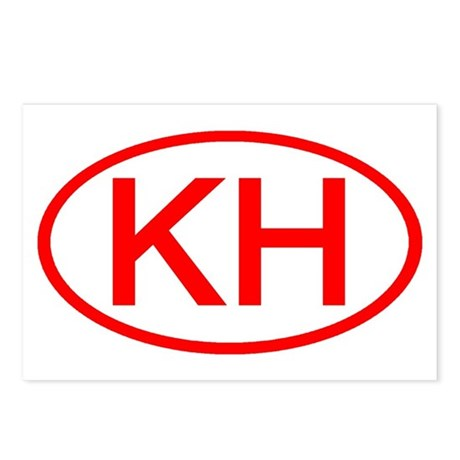 KH Oval (Red) Postcards (Package of 8)