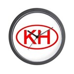 KH Oval (Red) Wall Clock