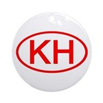 KH Oval (Red) Ornament (Round)