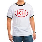 KH Oval (Red) Ringer T