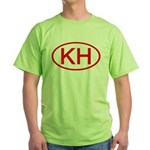 KH Oval (Red) Green T-Shirt