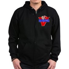 V for Vlogging with Camera Zip Hoody