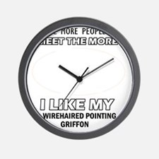 I like my Wirehaired Pointing Griffon Wall Clock