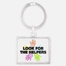 Look For The Helpers Landscape Keychain