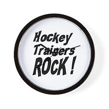 Hockey Trainers Rock ! Wall Clock
