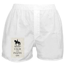Keep Calm and Piaffe On Dressage Hors Boxer Shorts
