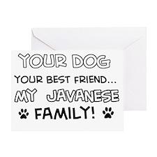 my Javanese Cat family Greeting Card