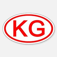 KG Oval (Red) Oval Decal