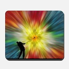 Tie Dye Silhouette Golfer Mousepad