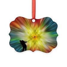 Tie Dye Silhouette Golfer Ornament