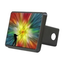 Tie Dye Silhouette Golfer Hitch Cover