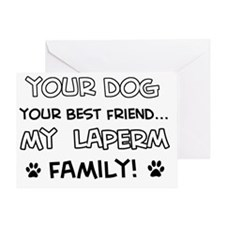 Laperm Cat family Greeting Card