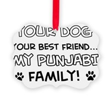 Punjabi Cat family Ornament