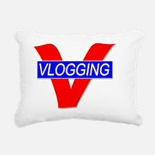 V for Vlogging Rectangular Canvas Pillow