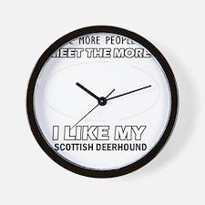 I like my Scottish Deerhound Wall Clock