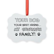 Savannah Cat family Ornament