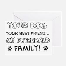 Peterbald Cat family Greeting Card
