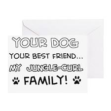 Jungle Curl Cat family Greeting Card
