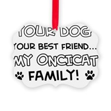 Oncicat Cat family Ornament