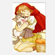 Red and Little Wolf Postcards (Package of 8)