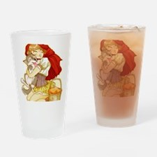 Red and Little Wolf Drinking Glass