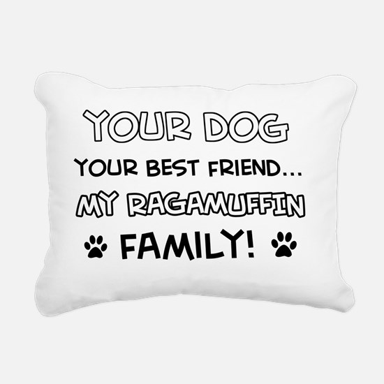 Ragamuffin Cat family Rectangular Canvas Pillow