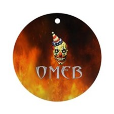 Flame shirt Round Ornament