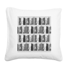 city life black and white Square Canvas Pillow