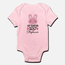 Personalized 1st Easter 2017 Baby Girl Body Suit