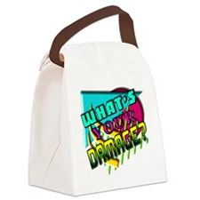 Whats Your Damage? Canvas Lunch Bag