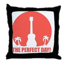 Perfect Sunset Ukulele Throw Pillow