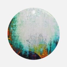 colorful grunge Round Ornament