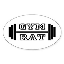 GYM RAT Oval Decal
