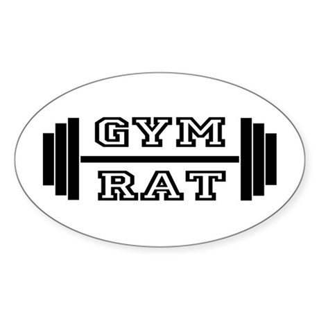 GYM RAT Oval Sticker