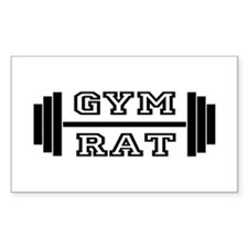 GYM RAT Rectangle Decal