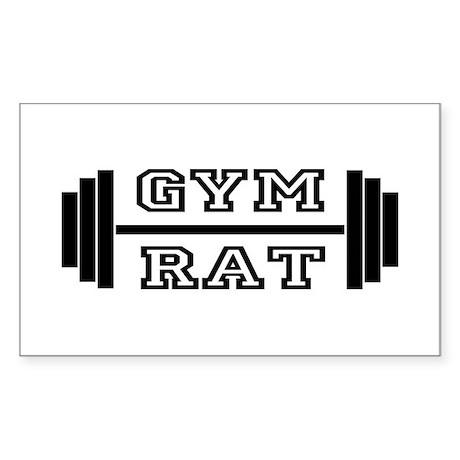 GYM RAT Rectangle Sticker
