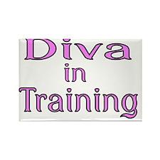 Diva in Training Rectangle Magnet