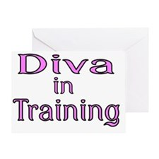 Diva in Training Greeting Card
