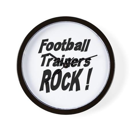 Football Trainers Rock ! Wall Clock