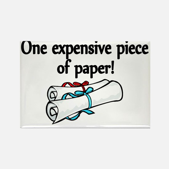 One expensive piece of Paper! Rectangle Magnet