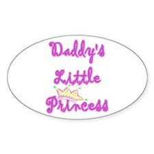 Daddy's Princess Oval Decal